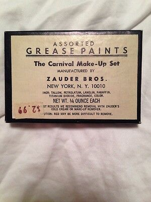 Vintage NEVER USED 1920 Clown/Carnival Grease Paints By Zauder Bros. Made In NY