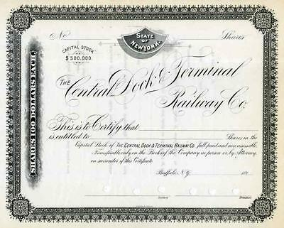 189_ Central Dock & Terminal RW Stock Certificate