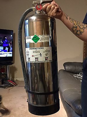 Fire Extinguisher 2.5 Gallon Water For Race Track NASCAR Drag Strip