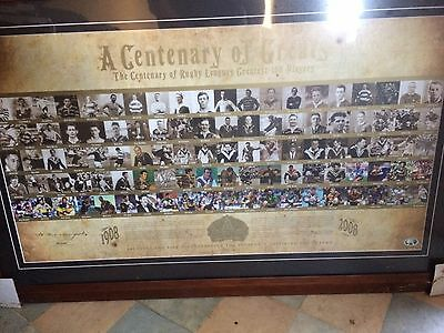 A Centenary Of Greats Framed Rugby Leagues Greatest