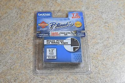 Brother P-Touch TZe-231 BLACK ON WHITE Label Tape / Ptouch TZ231 PT-1880