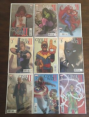 Civil War Ii # 0 1 2 3 4 5 6 7 8 Phil Noto Civil War Variant Full Set Run
