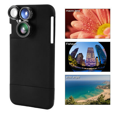 4-in-1 Camera Lens Wide Angle+Macro+Fisheye+ Phone Case for iPhone 7 Plus DC751