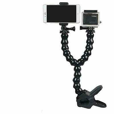 For Gopro Hero 7 6 5 4 3 Jaws Flex Clamp Mount with Dual Adjustable Gooseneck