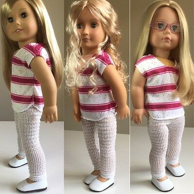 """Fit American Girl Our Generation Gotz 18"""" Doll Clothes Outfit And Shoes"""