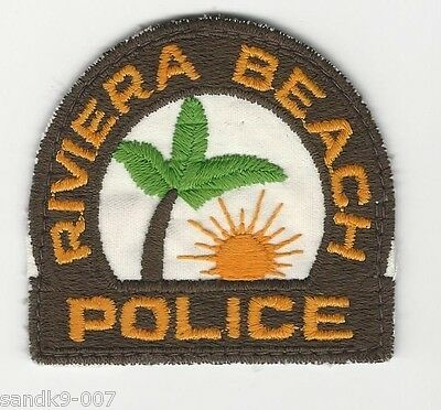 OLD Vintage Riviera Beach Police State of Florida FL Shoulder Patch