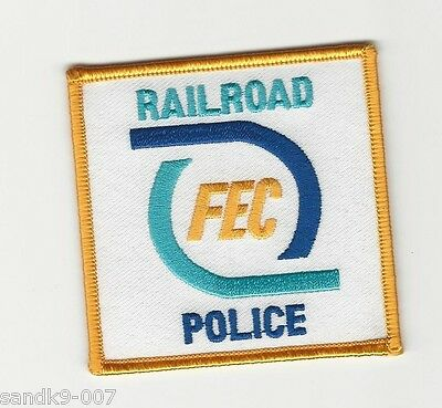 Square FEC Railroad Railway Police State FL Shoulder Patch