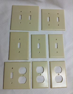 Lot/8-Vintage? Levitron Light Switch/Outlet Cover Plates-Single,Double,Oversized