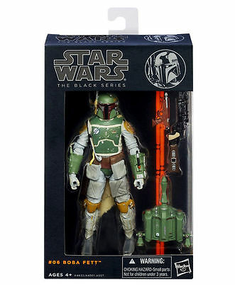 Hasbro Star Wars The Black Series #06 Boba Fett Action Figures Kids Play Set Toy