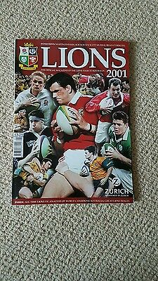 2001 British & Irish Lions Rugby Tour Guide - Official Magazine Signed.