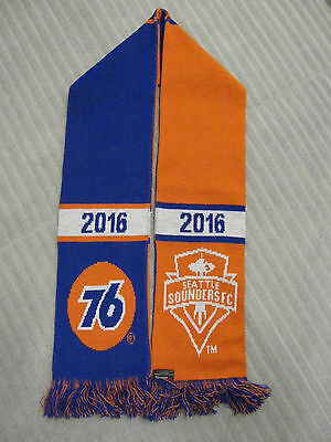 "Union 76 Gas Seattle Sounders Fc 56"" Orange Blue Promo Ad Scarf"