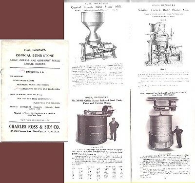 1919 Paint Varnish Pigment Lead Pharmaceutical Grinding Mill Machinery Catalog