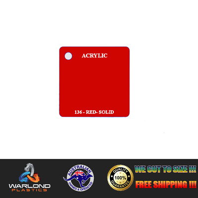Acrylic Perspex® Red 136 (Solid) Sheet A4 Size FREE POSTAGE!!!