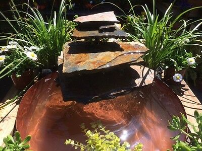 water feature garden natural stone inc pump for outdoor pond or indoor fountain