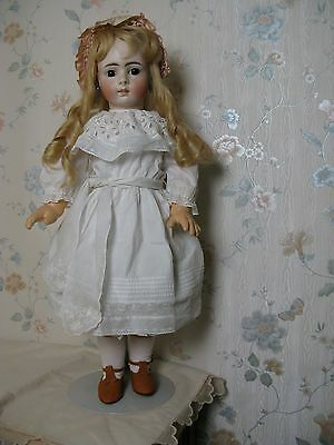"24"" Antique German Bisque Head Belton, Closed Mouth Doll1890"