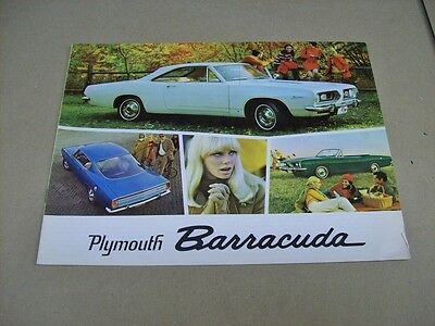 Canadian  1967 Barracuda  Sales Brochure  .