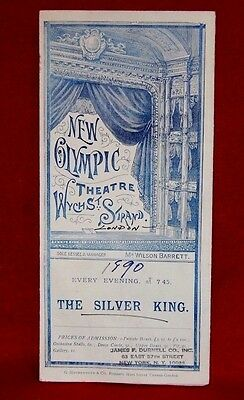 1890 New Olympic Theatre, The Silver King program