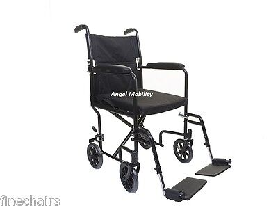 Lightweight Folding Transit Travel Wheelchair Foldable Handles Free Cushion