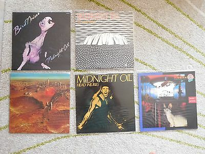 Midnight Oil   3 x LP's and 2 x EP's