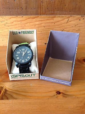 Spout Men's Watch Black Brand New in Box New Battery