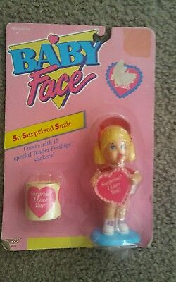 Vintage Galoob Baby Face Tender Feelings Doll Toy So Surprised Susie Mini Figure