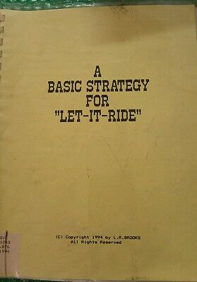 Vintage Rare...a Basic Strategy For Let It Ride...brooks 1994
