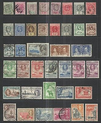 Gold Coast  1883 - 1954 Various Issues Used