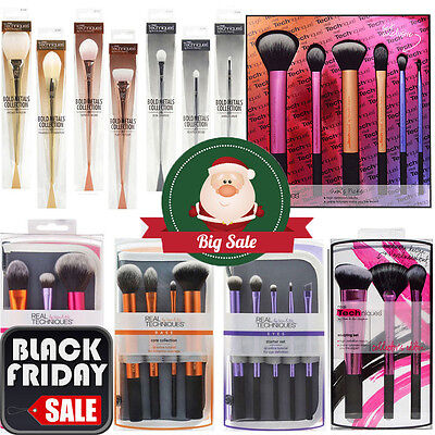 2017 Pro Real TECHNIQUES Makeup Brushes Core Collection Starter Kit Sam+Nic Pick