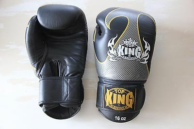 Top King 16oz gloves - muay thai - thai boxing -  boxing - for sparring - AS NEW