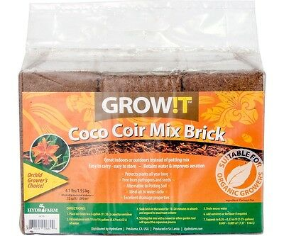 All NEW !! GROW!T Coco Coir Mix Brick, pack of 3 SAVE $$ W/ BAY HYDRO