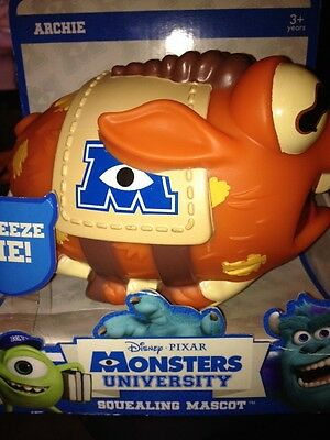Disney Pixar Monsters University Squealing Mascot Archie kids toy new Monsters