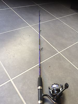 Fishing Rod And  Reel Combo With Line 1.2m Purple Colour