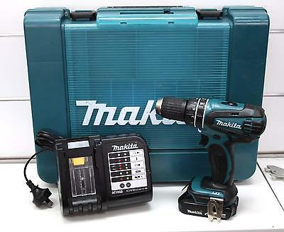 Makita DHP456 Hammer Drill / Driver, 1 Battery & Charger All In Case