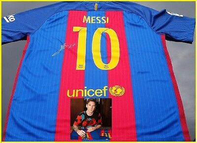 Lionel Messi Personally Hand Signed Barcelona Jersey 2016/2017 Plus Proof