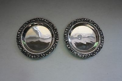 Indonesian 800 Silver Coaster or Sm Dish set of 2