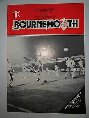 Bournemouth V Walsall Fa Cup 1St Rnd 1983/84