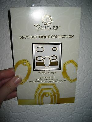 Couture by Create & Craft Deco Boutique Collection Flip Flop Dies 16739