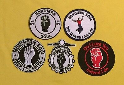 Set Of 5 Northern Soul Patches