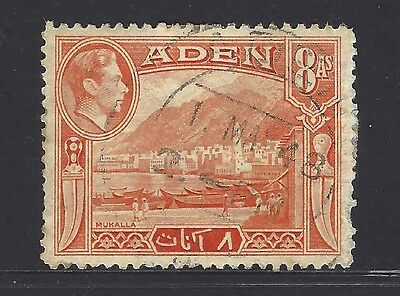 1938 Aden Kgvi 8A Used And Hinged