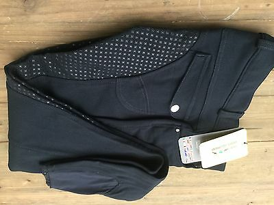 Hkm Full Seat Silica Ladies Breeches Size 26 ( Uk Size 8 ) Navy Blue - Sale 6