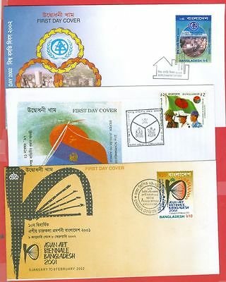 Bangladesh Single Issue 6 different Nice FDC Cover Lot#3489