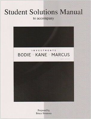9780073363578 Student Solutions Manual To Accompany Investements - Bodie