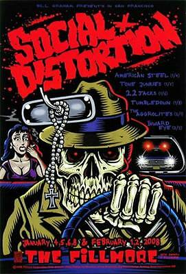 Social Distortion Gig Poster Bill Graham Presents Concert Poster