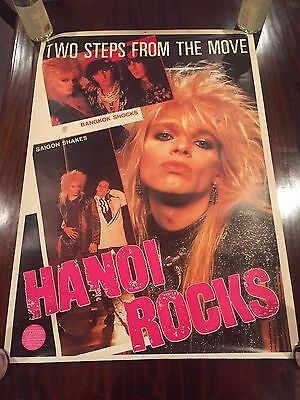 Original Hanoi Rocks Promo Poster 2 Steps From The Move 1984