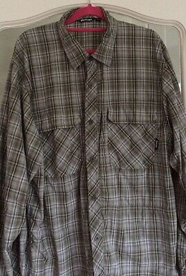 Rohan Green Checked Expedition Men's Shirt Size Large