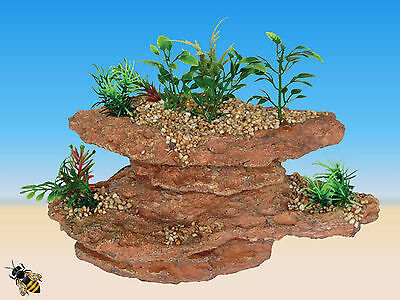 Aquarium Ornament Rock Plants Platform Cave Fish Tank Bowl Decoration New