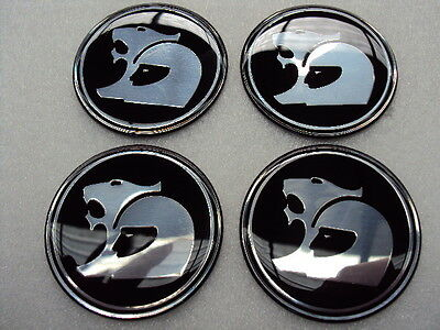 HSV WHEEL CENTRE CAP DECALS ONLY 56mm SET OF 4  SMOOTH AND GLOSSY
