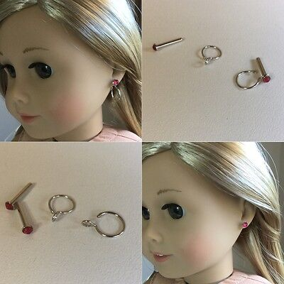 """Authentic American Girl Doll Earrings ONLY Fit 18"""" Doll Clothes"""