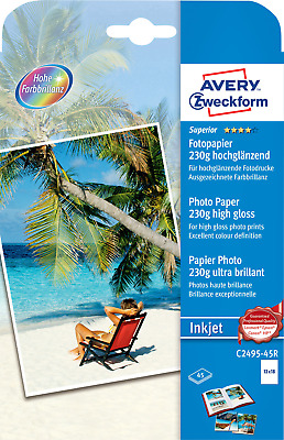 Avery-Zweckform Fotopapier Superior Photo Paper Inkjet C2495-45R 13 x 18cm 230 g