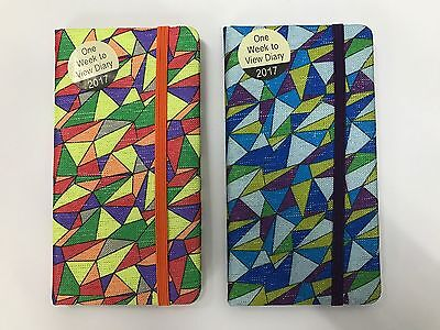 2017 Slim Pocket Diary Week To View Diary : Wh1-R4A : Hb928 : New